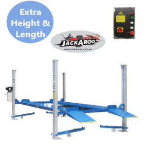 4 post Hoist 3.6T, Ex Height, Car parking lift, Car stacker with control box-Jackaroo JFP3.6HL-Pro, |Pro Workshop Gear